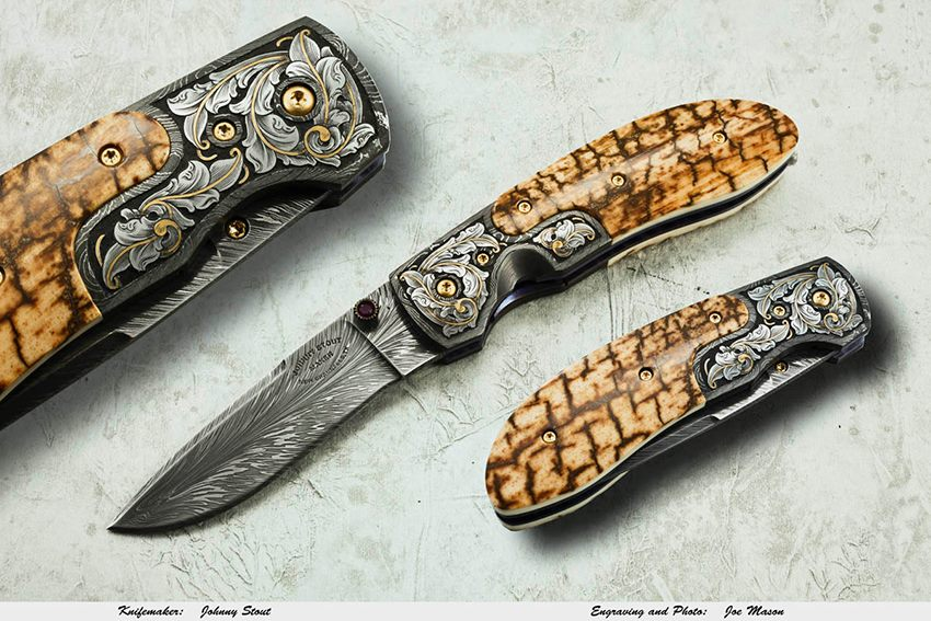 HHH Feather damascus Johnny Stout